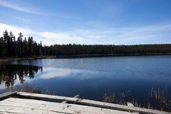 Blue Calm Lake Stock Photography