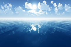 Blue calm sea Royalty Free Stock Images