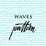 Blue calm wave pattern. Blue abstract colored pencil calm wave pattern Royalty Free Stock Photos