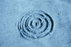 Blue cambrian cosmetic clay powder texture close up, selective focus Royalty Free Stock Photos