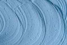 Blue cambrian cosmetic clay texture close up, selective focus. Abstract backgroun Royalty Free Stock Images