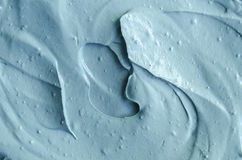 Blue cambrian cosmetic clay texture close up, selective focus. Abstract backgroun Royalty Free Stock Photos