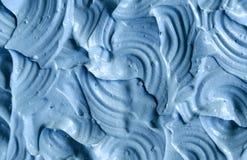 Blue cambrian cosmetic clay texture close up, selective focus. Stock Photos
