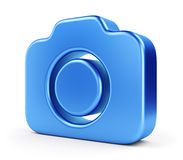 Blue camera icon Royalty Free Stock Photos
