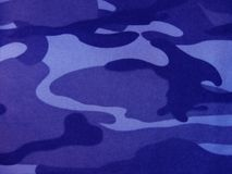 Blue camouflage. Military pattern. Camo swatches - Army/Desert/Navy/Jungle Royalty Free Stock Photos