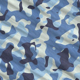 Blue camouflage Royalty Free Stock Photo