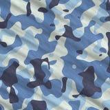 Blue camouflage Royalty Free Stock Photo