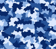 Blue camouflage seamless pattern Stock Image