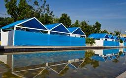 Blue camp Stock Photos