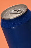 Blue can Stock Image