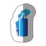 Blue can aerosol sprays icon. Illustraction design Royalty Free Stock Photos
