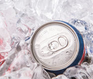 Blue Can Cola Drinks II Stock Image