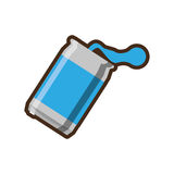 Blue can soda liquid drink design Stock Image