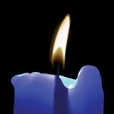 Blue Candle. Illustration - 3d render Stock Photos