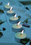 Blue candles Royalty Free Stock Images