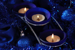 Blue candlestick. Stock Photo