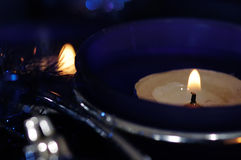 Blue candlestick. Stock Photography