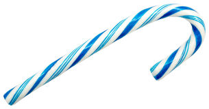 Blue Candy Cane Royalty Free Stock Photos
