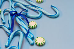 Blue Candy Canes Stock Image