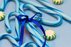 Blue Candy Canes Royalty Free Stock Photo