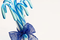Blue Candy Canes Stock Photography