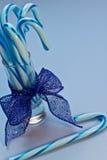 Blue Candy Canes Stock Photos