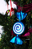 Blue candy christmas ornament Stock Photo