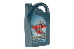 Blue canister motor oil 1L Stock Image