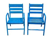 Blue Cannes chairs isolated Royalty Free Stock Photos