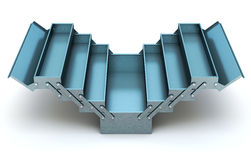 Blue cantilever tool box Royalty Free Stock Images