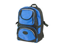 Blue canvas backpack Royalty Free Stock Images