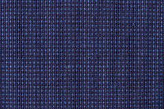 Blue canvas carpet background or texture Royalty Free Stock Photography