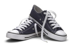 Blue Canvas Shoes Stock Photography