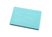 Blue canvas on a stretcher Royalty Free Stock Photo