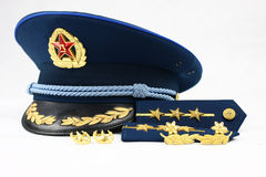Blue cap of Chinese Air Force Stock Image