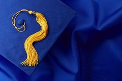 Blue Cap and Gown Royalty Free Stock Photos