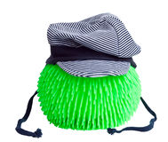 A blue cap on a green ball. Stock Photos