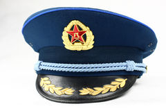 Blue Cap Of Chinese Air Force Royalty Free Stock Images