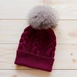 Blue cap wool Royalty Free Stock Image