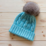 Blue cap wool Royalty Free Stock Photography