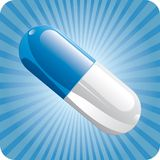 Blue capsule Stock Images