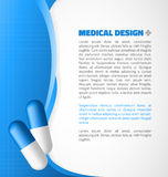 Blue capsule design Royalty Free Stock Photo