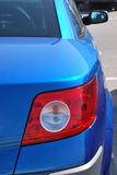 Blue car Stock Images