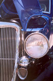 Blue Car. Blue V8 antique car Stock Images