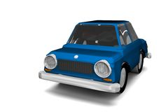 Blue car Royalty Free Stock Image