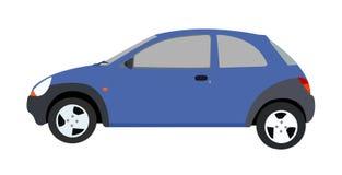 Blue car. Illustration of blue saloon car vector illustration