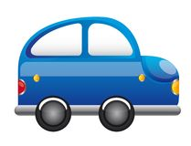 Blue Car Cartoon Stock Photo