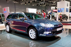 Blue car Citroen C5 Stock Images