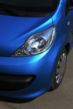 Blue car close up Royalty Free Stock Photos