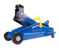 Blue car Floor Jack Royalty Free Stock Photo